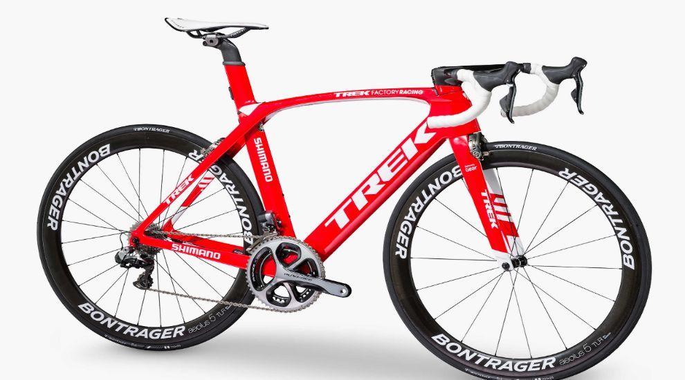 Imagen de la bicicleta usada por Contador este año que no es la misma...