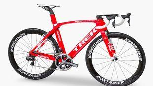 Imagen de la bicicleta usada por Contador este a�o que no es la misma...