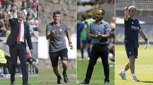 José Luis Oltra, Pep Lluis Martí, Álvaro Cervera y Natxo González,...