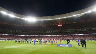 Imagen del Wanda Metropolitano antes del estreno ante el M�laga.