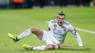 Bale durante el partido ante el Borussia en Dortmund