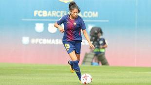 Leila Ouahabi durante un partido esta temporada en Barcelona.