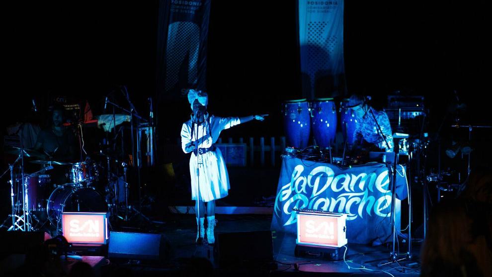 Yaite Ramos en plena actuación en el SON