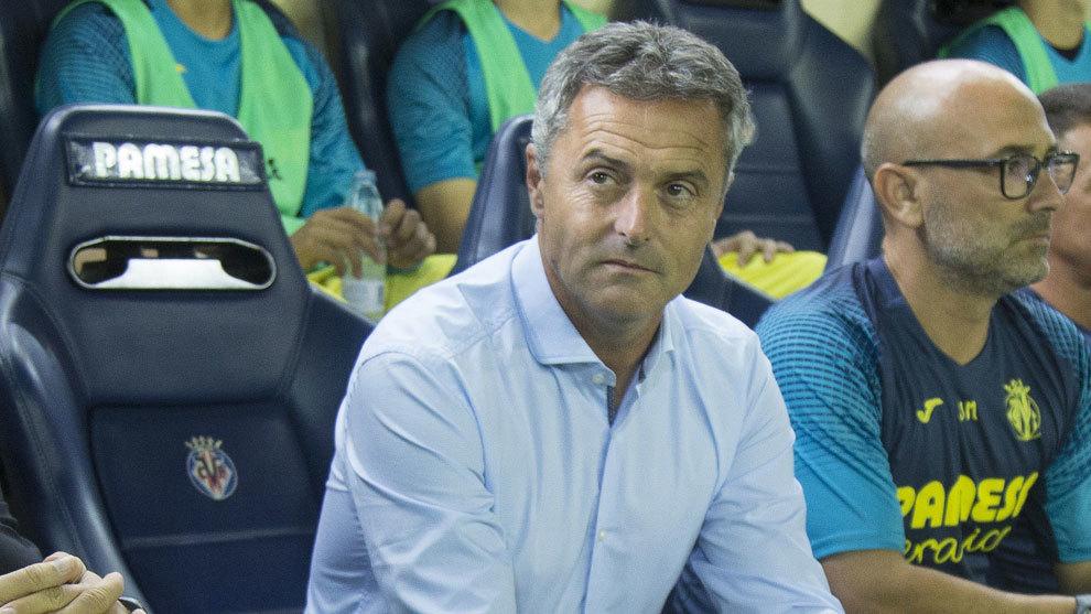 Fran Escribá en su etapa como entrenador del Villarreal.