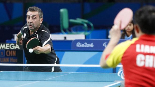 Juan Bautista en un partido de los Juegos Paralímpicos de Río.