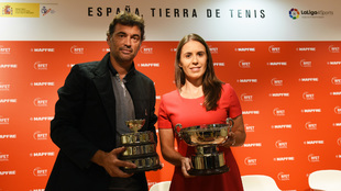 Sergi Bruguera y Anabel Medina