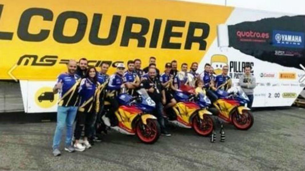 El equipo Halcourier MS Racing