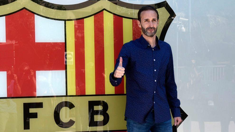Sito Alonso durante su presentación con el Barcelona Lassa