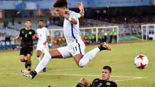 Sancho, en acción en el partido contra México.