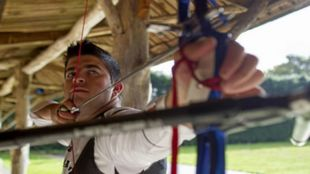 Miguel Alvariño en un entrenamiento