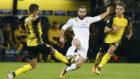 Carvajal, en el partido contra el Dortmund