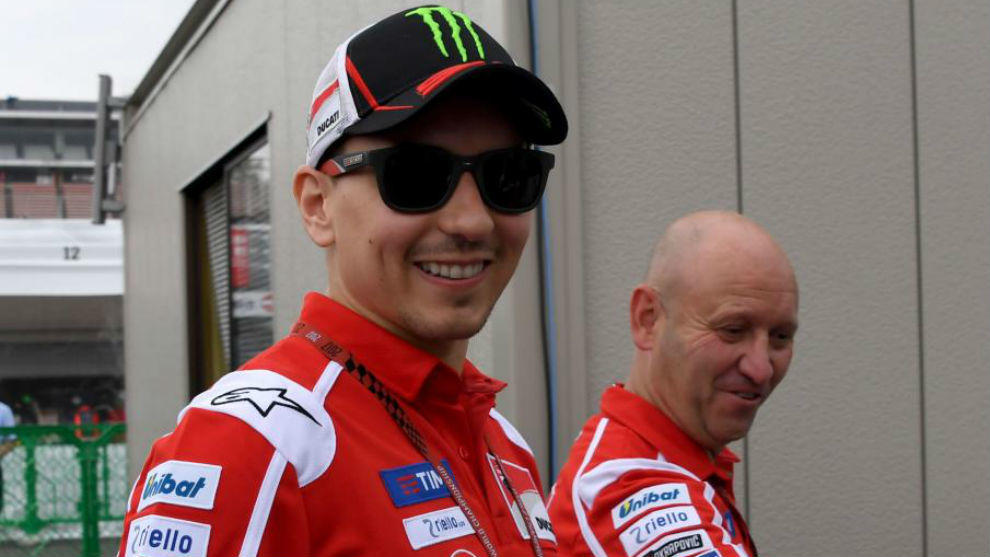 Jorge Lorenzo (Ducati), en el circuito de Motegi