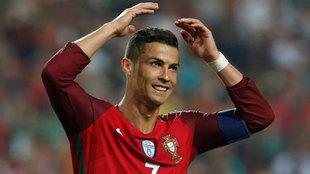 Ronaldo, en un partido contra Suiza