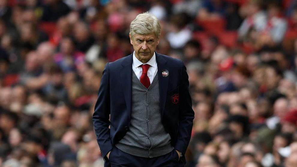 Arsène Wenger (67), en un instante del partido entre el Arsenal y el...