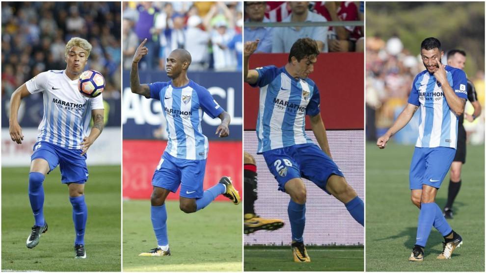 Peñaranda (20), Rolan (24), Mula (21) y Borja Bastón (25), jugando...