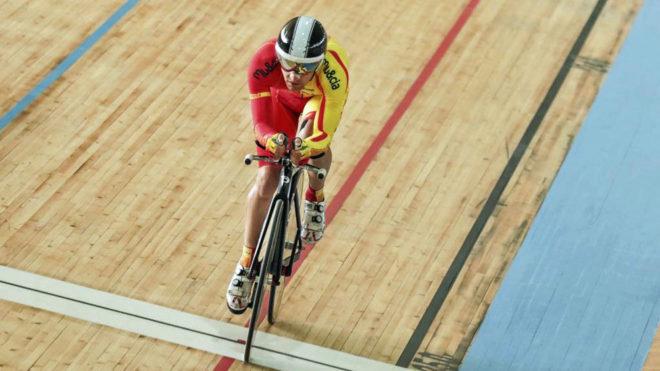 Eduardo Santas compitiendo en los Juegos Paralímpicos de Río