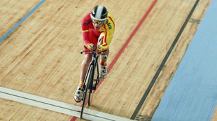 Eduardo Santas compitiendo en los Juegos Paral�mpicos de R�o