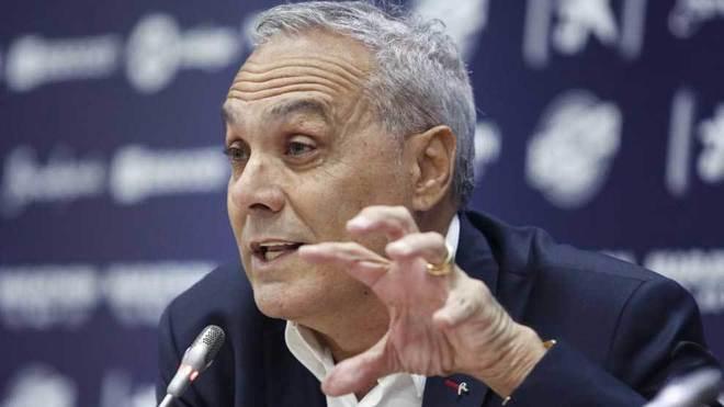Mario Husillos, durante su presentación con el Málaga.