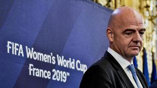 Infantino, en la presentación del Mundial femenino de Francia 2019