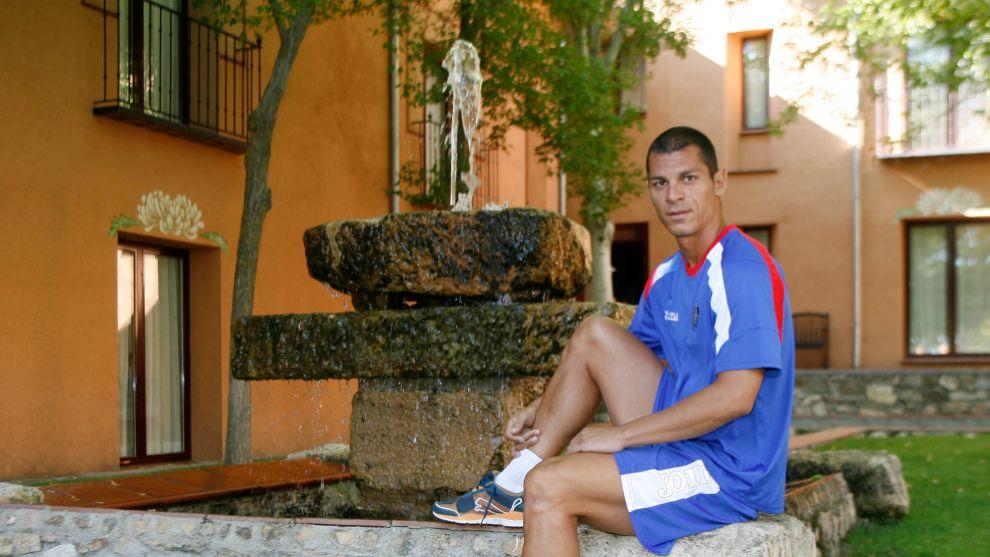 Casquero en su etapa como futbolista del Getafe.