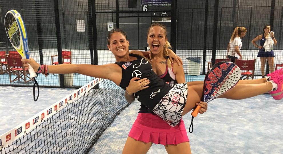 Galán y Villalba muestran su alegría por lograr el pase a cuartos de...
