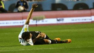 Fernando Gago, la noche que se lesionó.