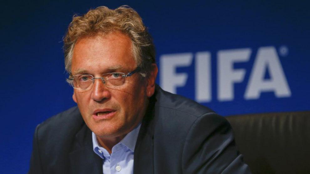 Jérôme Valcke, en la sede de la FIFA