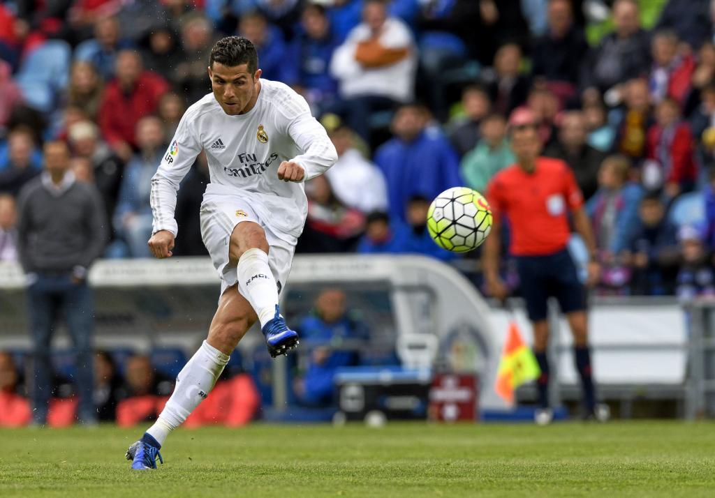 Cristiano (32), en un partido entre el Getafe y el Real Madrid en el...