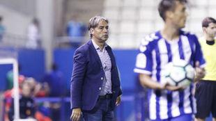 Natxo González en un momento del último partido.