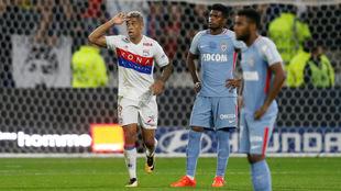 Mariano celebra el gol del 1-0