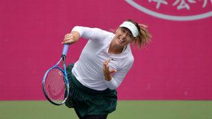 Sharapova, en el momento del saque