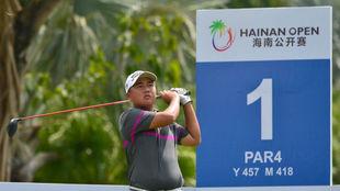 Li Linqiang (13 años), ha pasado el corte en un torneo profesional.