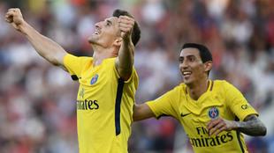 Meunier celebra el gol del 1-0