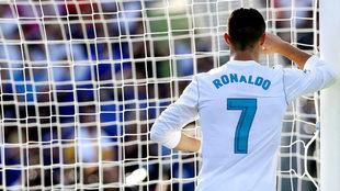 Ronaldio, tras fallar un gol.
