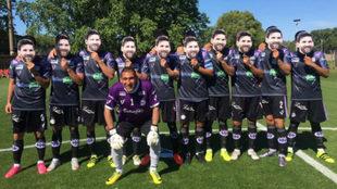 El once de Sacachispas, con las caretas de Messi