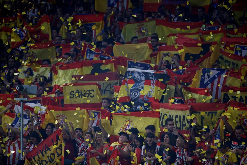 Atlético de Madrid  El fondo sur del Wanda Metropolitano se llenó de ... 60240cde2a2