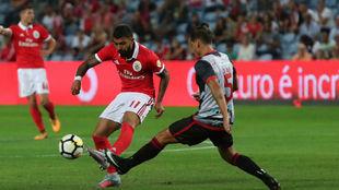 Gabriel Barbosa, en el partido ante el Olhanense.