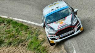 Solans, en el Rally Cataluña.