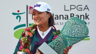 Jin Young Ko tras su triunfo en el Championship de Incheon