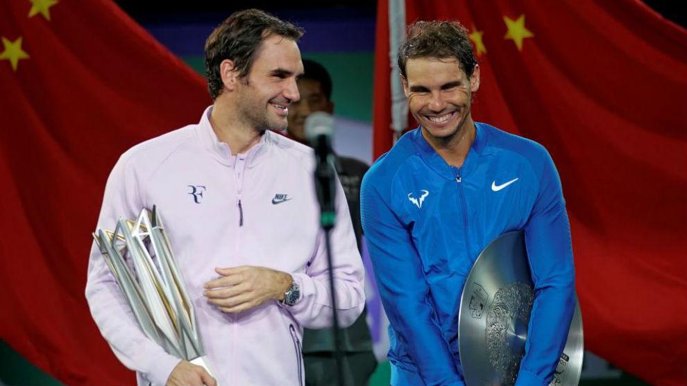 Federer y Nadal, en la ceremonia