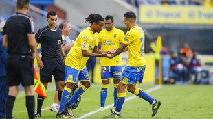 Remy y Vitolo, en un partido con Las Palmas