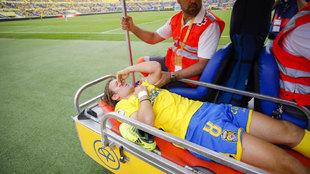 Halilovic, cuando se marchó lesionado