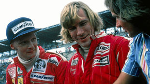 Niki Lauda y James Hunt.
