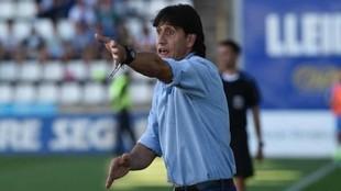 Gustavo Siviero durante un partido con el Hércules