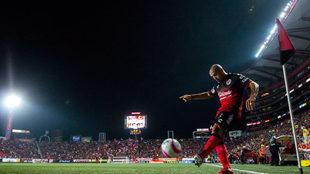 Malcorra en el partido contra Veracruz.
