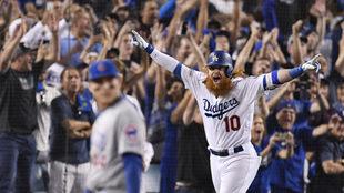 Justin Turner destacó en la victoria de los Dodgers