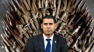 Estopa sienta a Hierro en el trono de hierro de Juego de Tronos