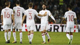 España celebra el triunfo en Israel