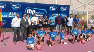 Entrega de trofeos en la Ciudad de la Raqueta