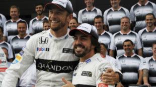 Jenson Button y Fernando Alonso.